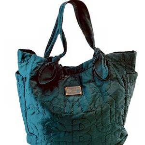 Marc by Marc Jacobs Large Tote Bag Quilted Teal